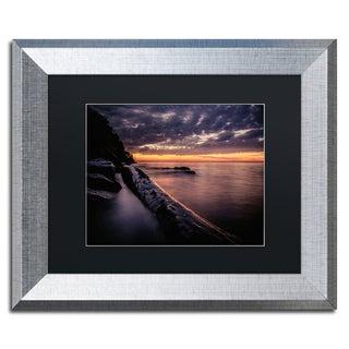 Jason Shaffer 'Vermilion Sunset' Matted Framed Art