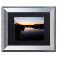 Jason Shaffer 'South Amherst Quarries 2' Matted Framed Art