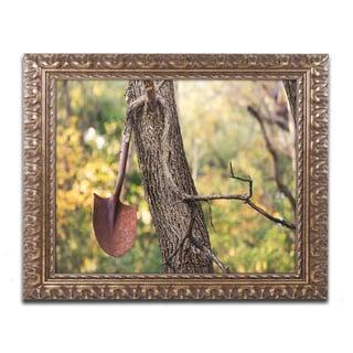 Jason Shaffer 'Shovel' Ornate Framed Art