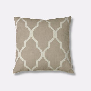 Elrene Medalia Linen Blend 18-inch Decorative Pillow