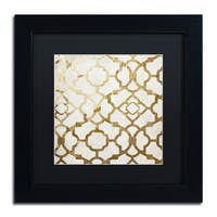 Color Bakery 'Moroccan Gold II' Matted Framed Art - Gold/White
