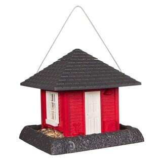North States Red Garden House Birdfeeder
