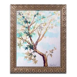 Wendra 'Blue Maple' Ornate Framed Art