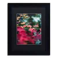 Jason Shaffer 'Maple' Matted Framed Art - Red