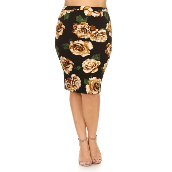 s pattern plus size pencil skirt free