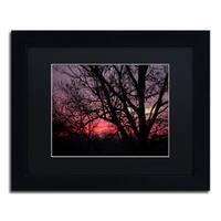 Jason Shaffer 'Pink Sunset' Matted Framed Art - Black