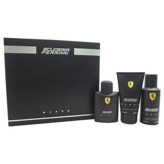 Ferrari Black Men's 3-piece Gift Set