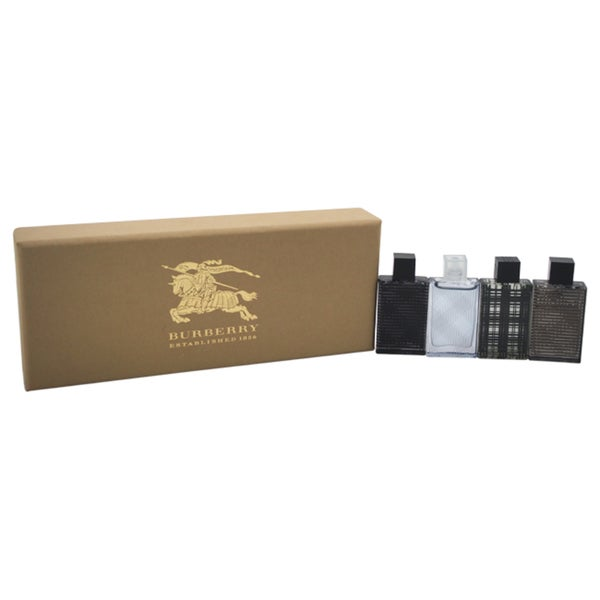 8d2f8daaa6e Shop Burberry Brit Variety Men s 4-piece Mini Gift Set - Free Shipping On  Orders Over  45 - Overstock - 14748958