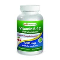Best Naturals Vitamin B-12 as Methylcobalamin 6000mcg (120 Tablets)