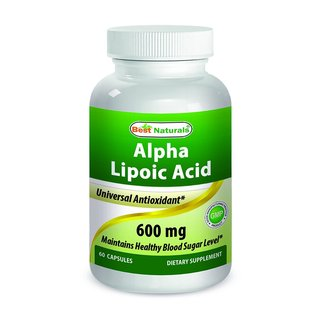 Best Naturals Alpha Lipoic Acid 600mg ALA Powerful Antioxidant (60 Capsules)