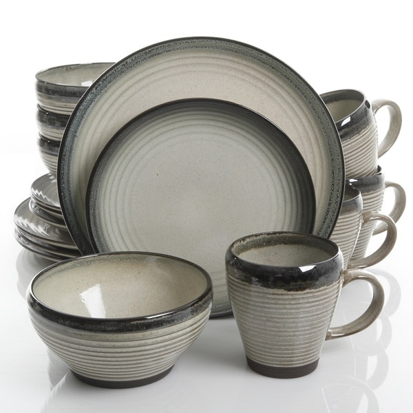 Gibson Elite Forest Lake 16 pc. Dinnerware Set  sc 1 st  Overstock : elite dinnerware sets - pezcame.com