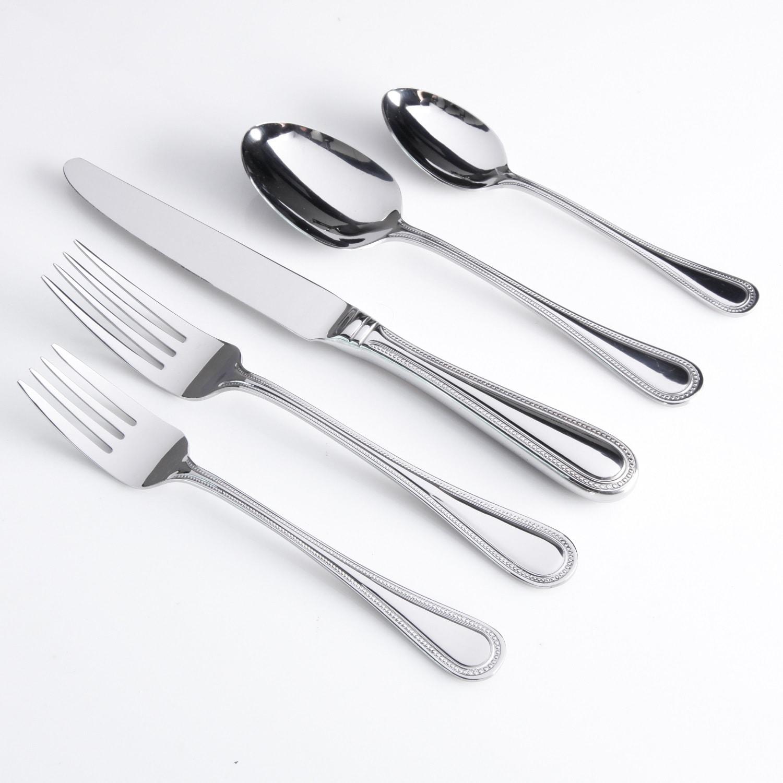 Gibson Grayln Flatware Set, 20 Pc., Silver stainless steel