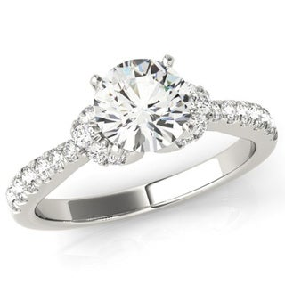 Transcendent Brilliance Curved Wrap 14k Gold 5/8 TDW Diamond Engagement Ring