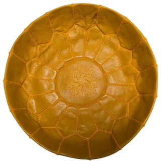 Handmade Pouf Ottoman Unstuffed Leather Shell (Morocco)