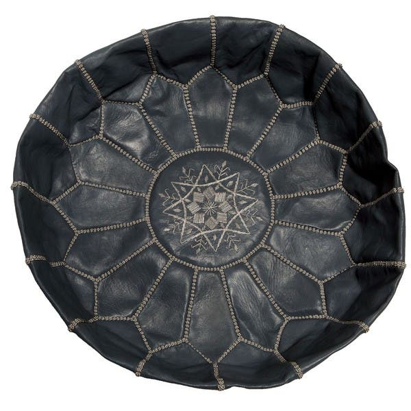Excellent Shop Handmade Unstuffed Leather Ottoman Shell Morocco On Gmtry Best Dining Table And Chair Ideas Images Gmtryco