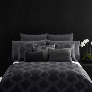 Vera Wang Queen Size Scribble Print Duvet Cover