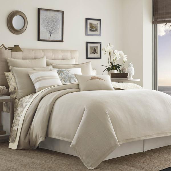Tommy Bahama Shoreline Woven Comforter Set - Tan