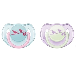 Philips Avent Birds Fashion Born 0 to 6 Month Pacifiers (Set of 2)