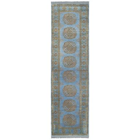 Handmade One-of-a-Kind Turkoman Wool Runner (Afghanistan) - 2'7 x 9'7