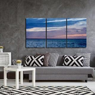 Ready2HangArt Indoor/Outdoor 3 Piece Wall Art Set (24 x 48) 'Horizon Hues' in ArtPlexi by NXN Designs
