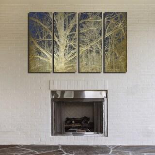 Ready2HangArt Indoor/Outdoor 4 Piece Wall Art Set (32 x 48) 'Antiquated Grain II' in ArtPlexi by NXN Designs - White
