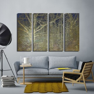 Ready2HangArt Indoor/Outdoor 4 Piece Wall Art Set (32 x 48) 'Antiquated Grain' in ArtPlexi by NXN Designs - Grey