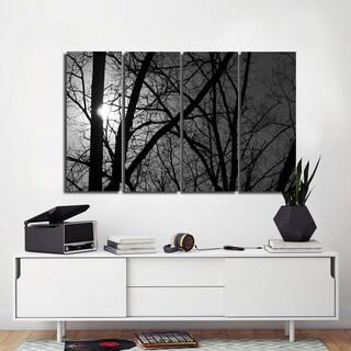 Ready2HangArt Indoor/Outdoor 4 Piece Wall Art Set (32 x 48) 'Day & Night' in ArtPlexi by NXN Designs - Grey - 32 x 48