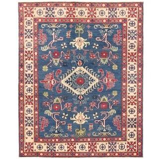 Herat Oriental Afghan Hand-knotted Vegetable Dye Kazak Wool Rug (5' x 6'3)
