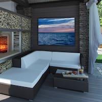 Ready2HangArt Indoor/Outdoor Wall Decor 'Horizon Hues' in ArtPlexi by NXN Designs - Blue