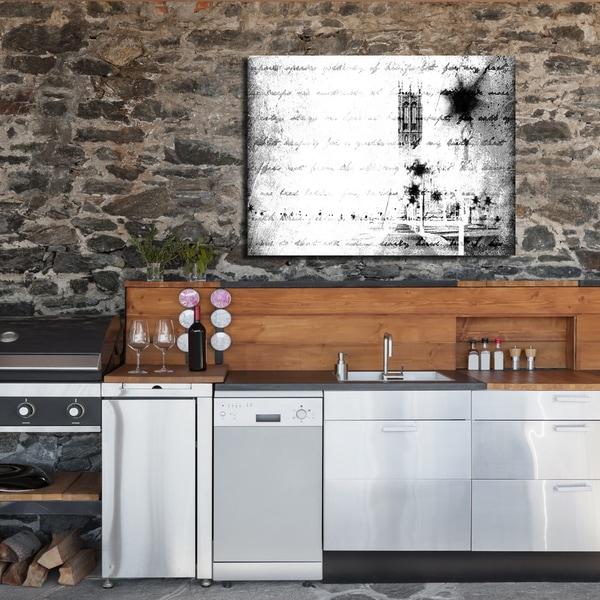 Ready2HangArt Indoor/Outdoor Wall Décor 'Monochrome Scripts' in ArtPlexi by NXN Designs