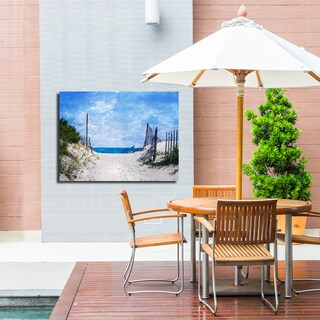 Ready2HangArt Indoor/Outdoor Wall Decor 'Beach Days' in ArtPlexi by NXN Designs - Blue