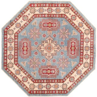 Herat Oriental Afghan Hand-knotted Vegetable Dye Kazak Wool Rug (6'4 x 6'4)