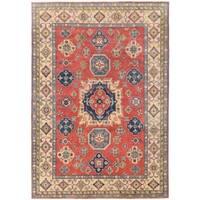 Herat Oriental Afghan Hand-knotted Vegetable Dye Kazak Wool Rug (7'10 x 11'1)