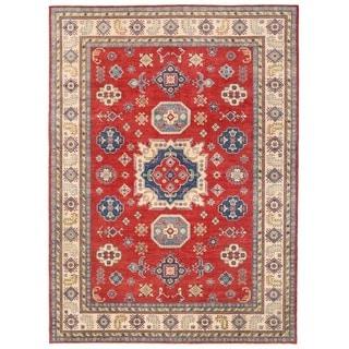Herat Oriental Afghan Hand-knotted Vegetable Dye Kazak Wool Rug (10' x 13'9)