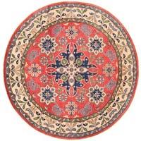 Herat Oriental Afghan Hand-knotted Vegetable Dye Kazak Wool Rug (6'6 x 6'6)