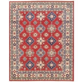 Herat Oriental Afghan Hand-knotted Vegetable Dye Kazak Wool Rug (8'2 x 10')