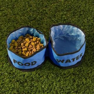 PETMAKER Set of Two Collapsible Pet Travel Pet Bowls