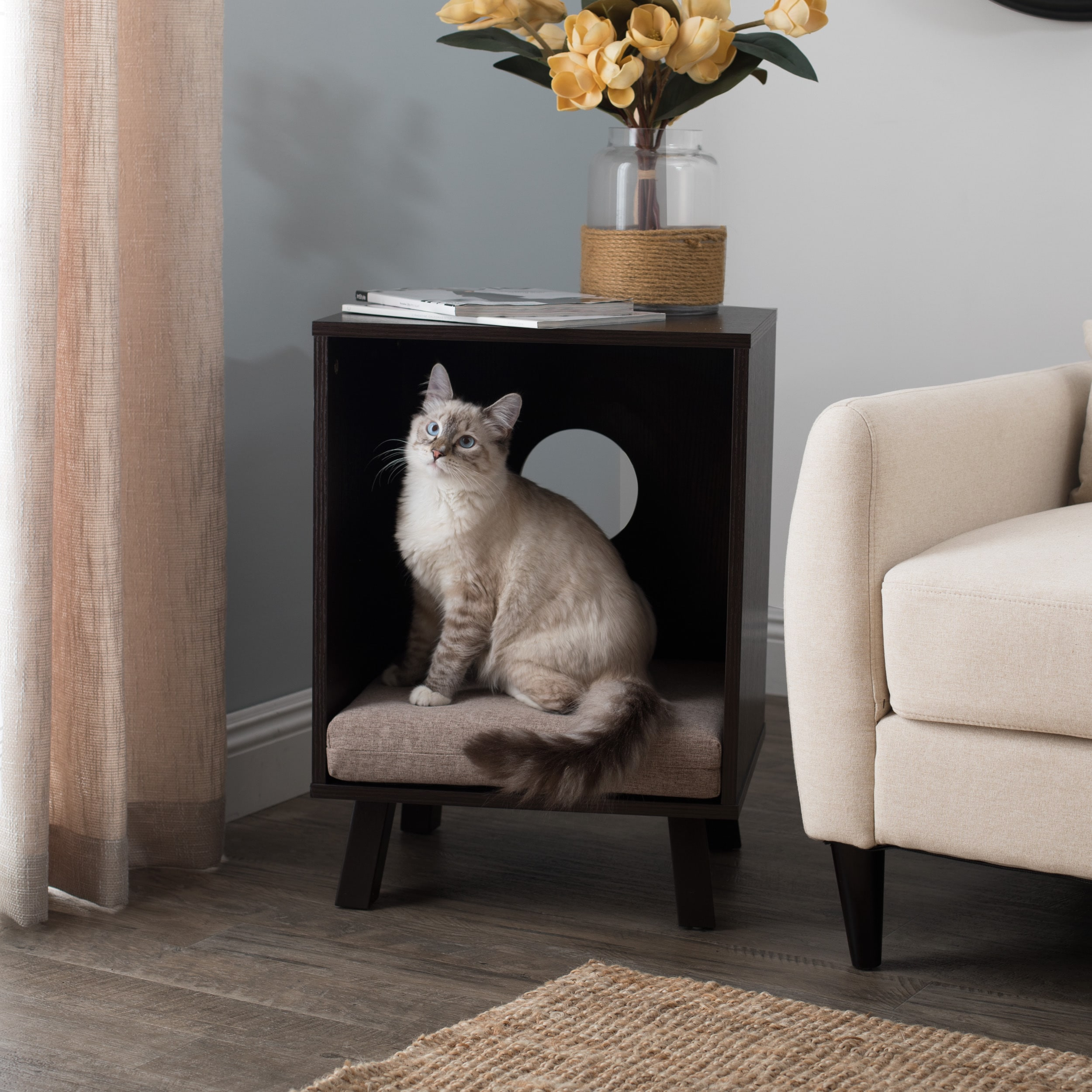 Picture of: Studio Designs Paws Purrs Pet Bed End Table Overstock 14766469
