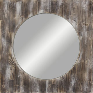 36-inch Round Reclaimed Wood Mirror