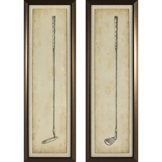Decor Therapy Vintage Golf Clubs Golden Bronze 2-piece Framed Wall Art Set