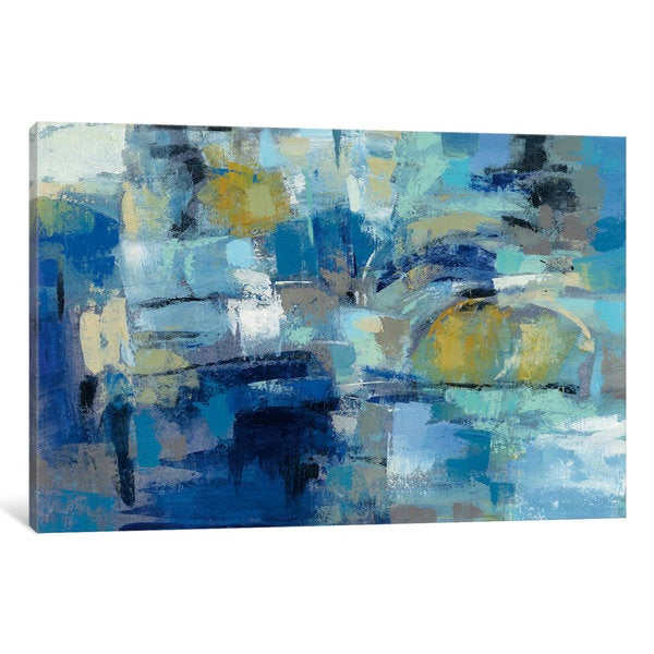 iCanvas 'Ultramarine Waves III' by Silvia Vassileva Canvas Print