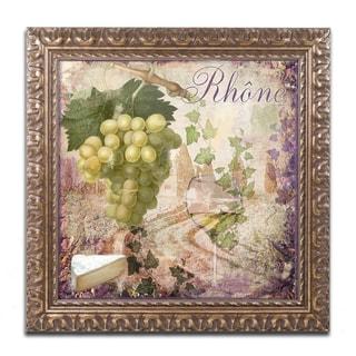 Color Bakery 'Wine Country VI' Ornate Framed Art