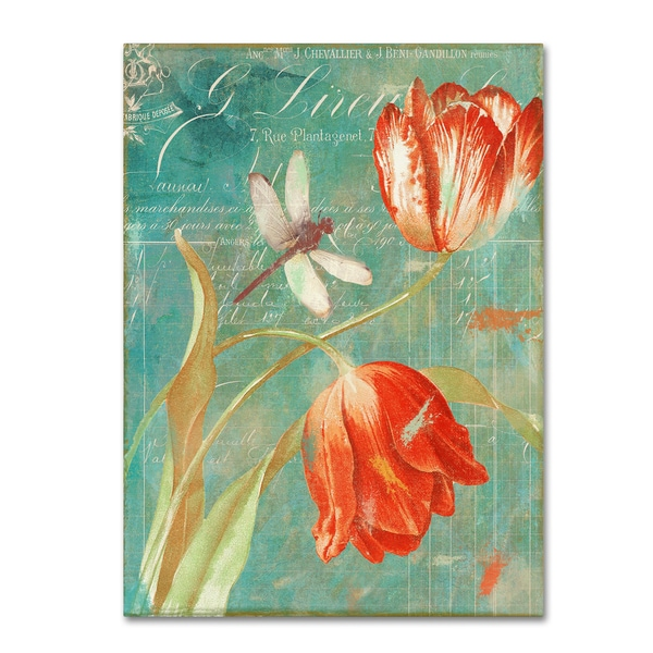 Color Bakery 'Mandarin Tulips' Canvas Art