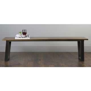 East At Main's Smyrna Brown Mahogany Rectangular Bench