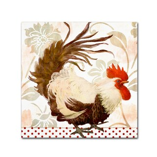 Color Bakery 'Rooster Damask II' Canvas Art