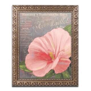 Color Bakery 'Peach Hibiscus' Ornate Framed Art