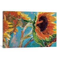 iCanvas 'Sunflowers V' by Richard Wallich Canvas Print