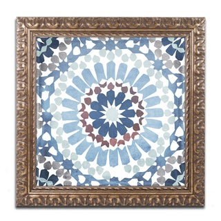 Color Bakery 'Moroccan Blues IV' Ornate Framed Art