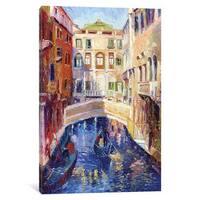iCanvas 'Venice' by Richard Wallich Canvas Print