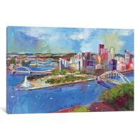iCanvas 'Pittsburgh' by Richard Wallich Canvas Print